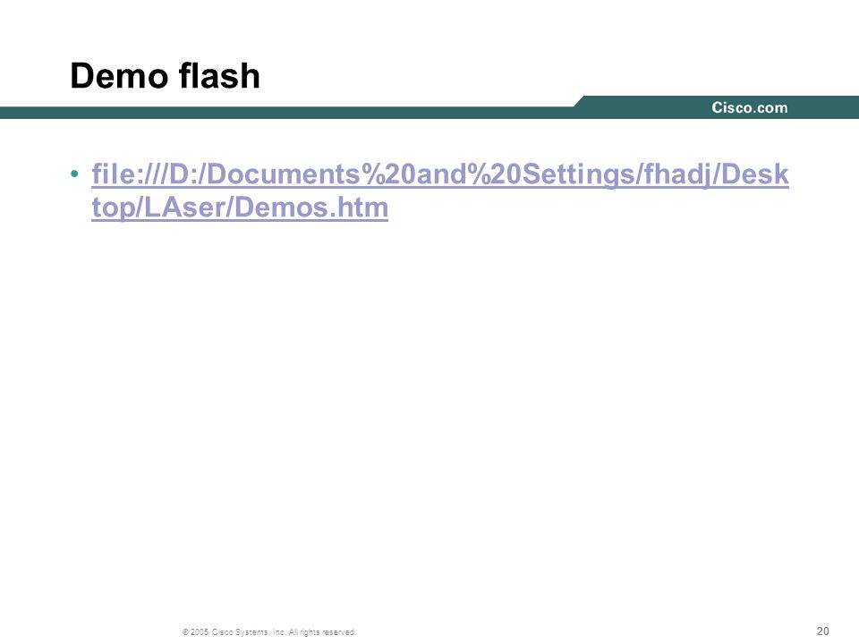 Demo flash file:///D:/Documents%20and%20Settings/fhadj/Desktop/LAser/Demos.htm