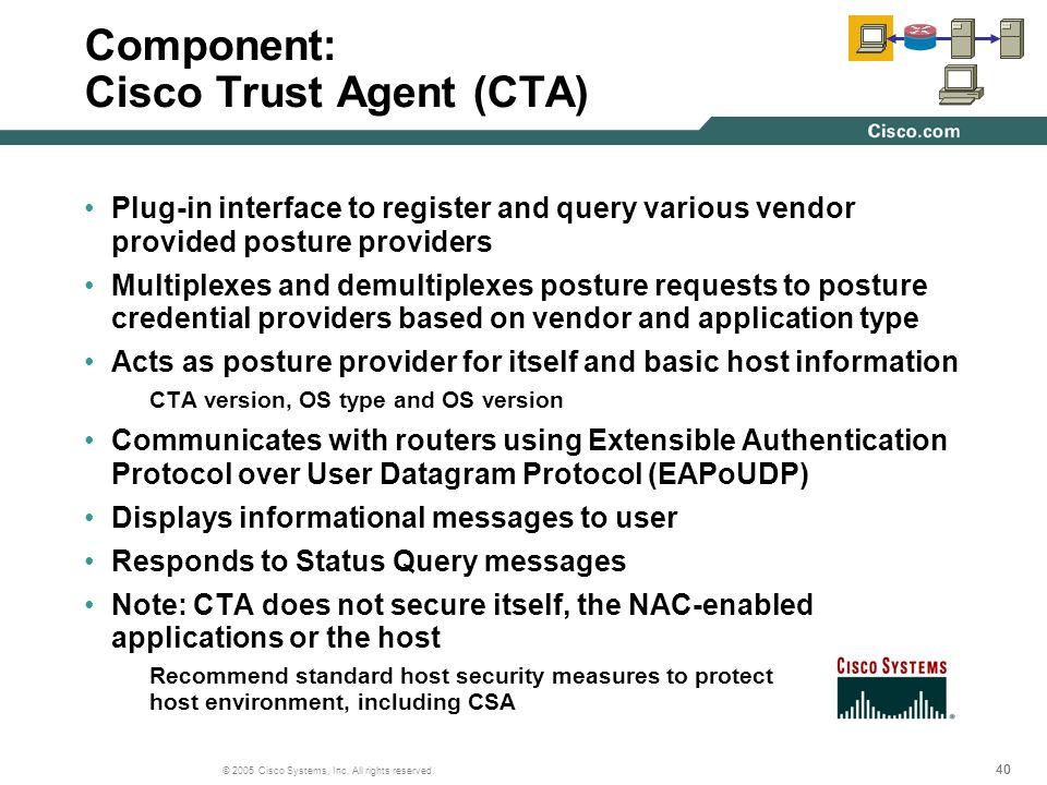 Component: Cisco Trust Agent (CTA)