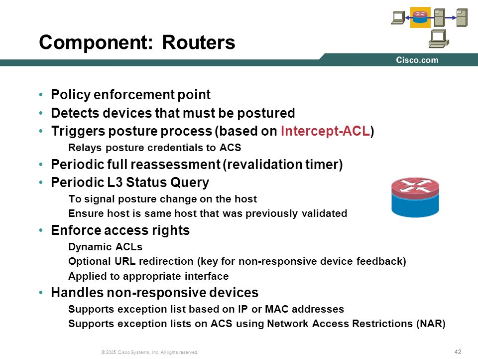 Component: Routers Policy enforcement point