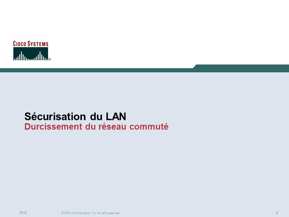 Sécurisation du LAN Durcissement du réseau commuté