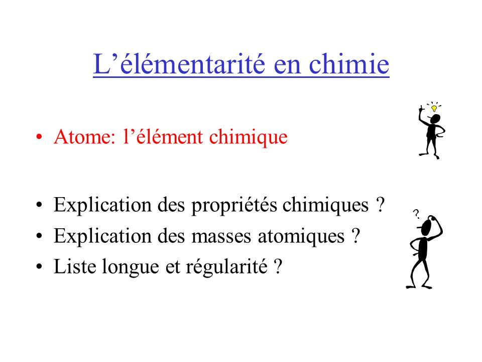 L'élémentarité en chimie