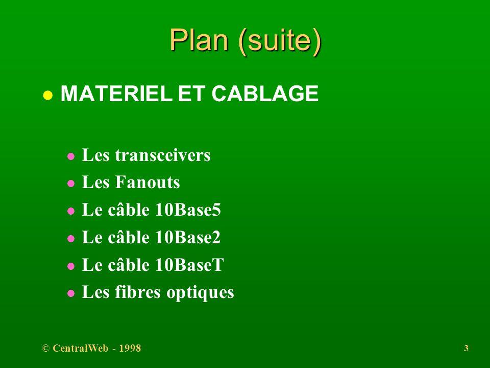 Plan (suite) MATERIEL ET CABLAGE Les transceivers Les Fanouts