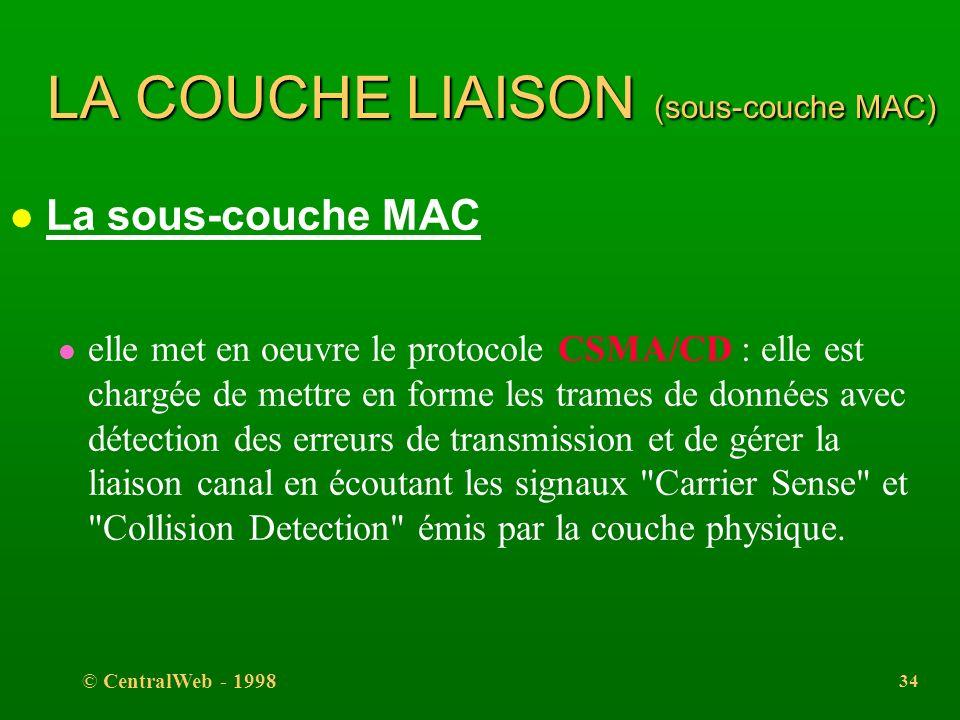 LA COUCHE LIAISON (sous-couche MAC)