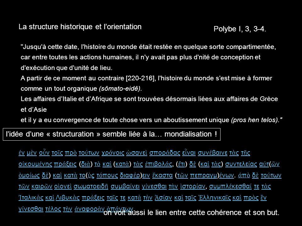 La structure historique et l'orientation Polybe I, 3, 3-4.
