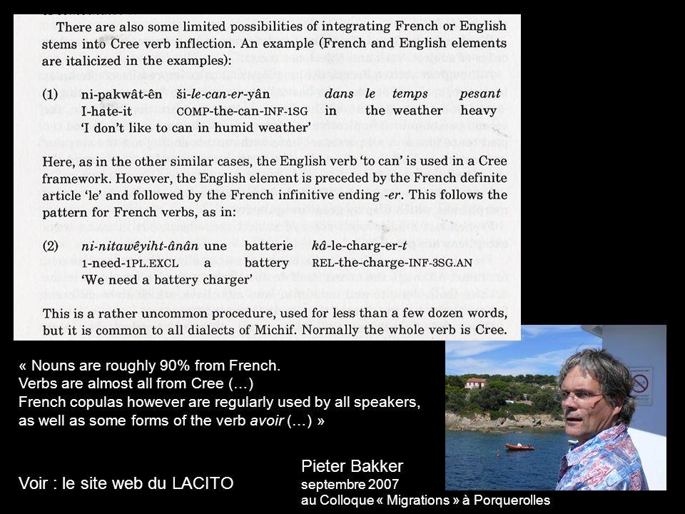 Voir : le site web du LACITO