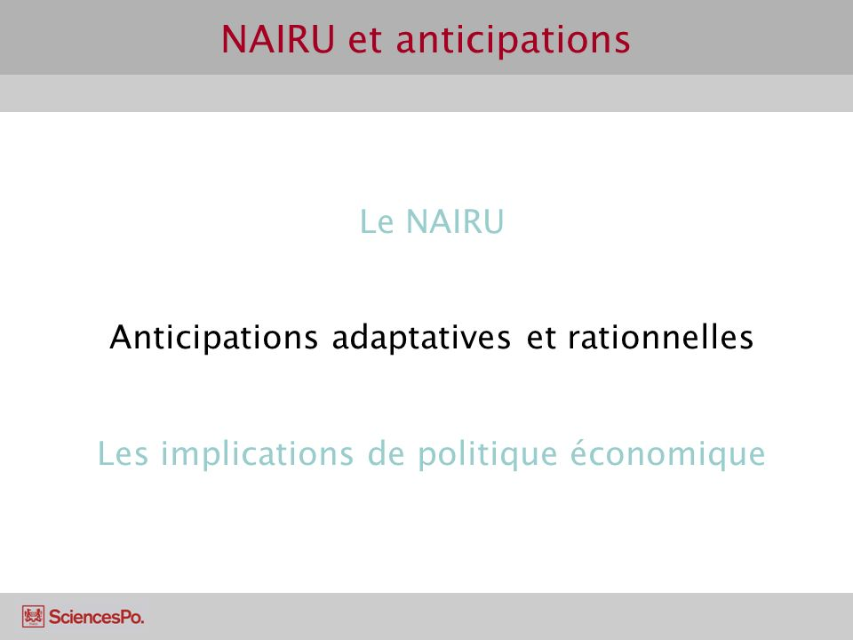 NAIRU et anticipations