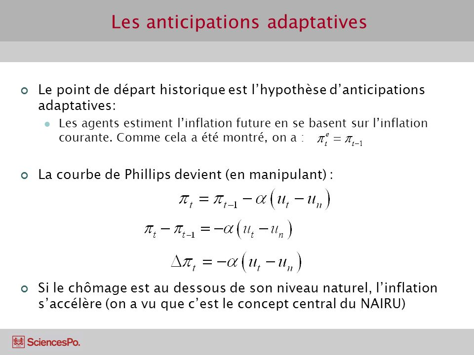 Les anticipations adaptatives
