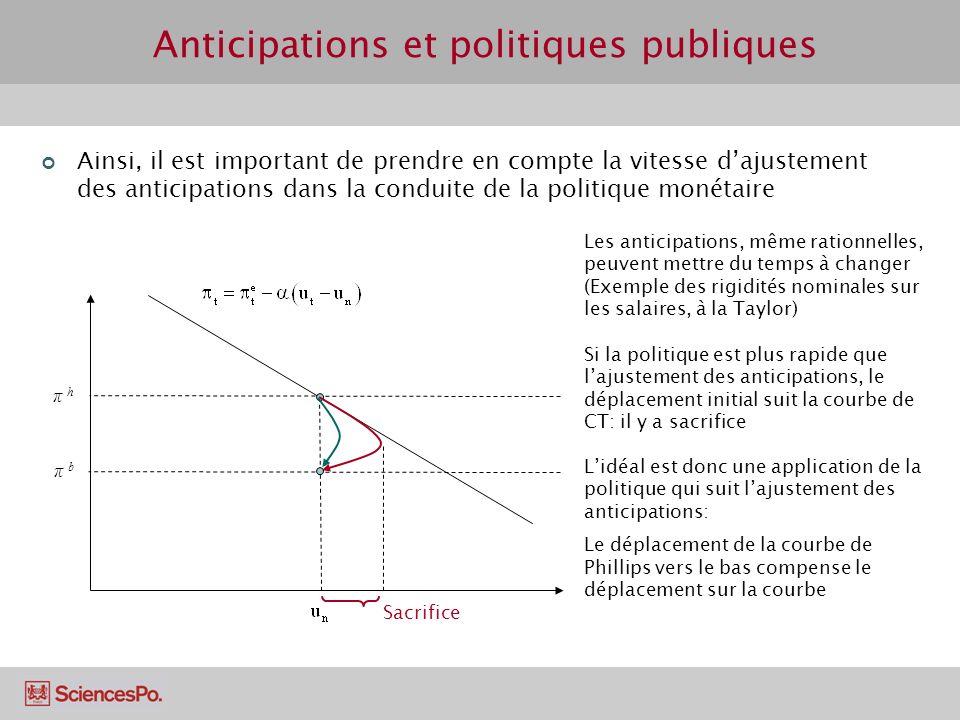 Anticipations et politiques publiques