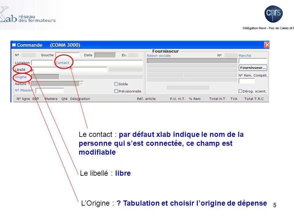 Le contact : par défaut xlab indique le nom de la personne qui s'est connectée, ce champ est modifiable