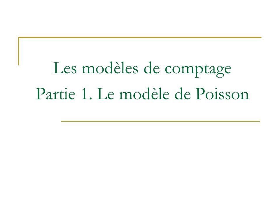 Les modèles de comptage Partie 1. Le modèle de Poisson
