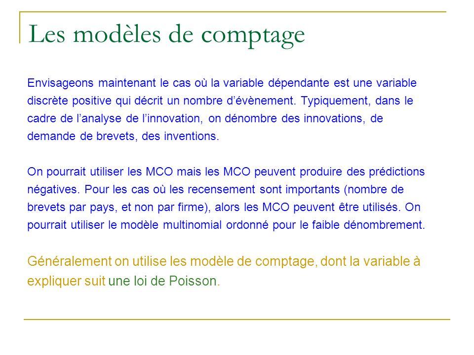 Les modèles de comptage