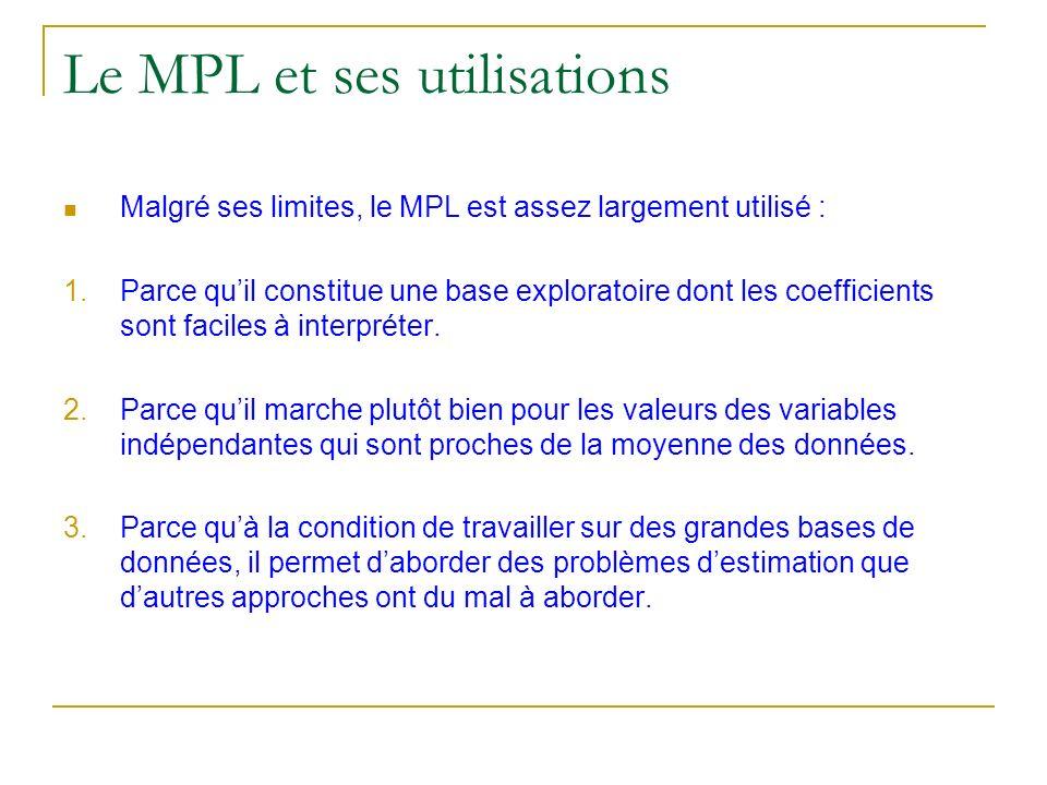Le MPL et ses utilisations