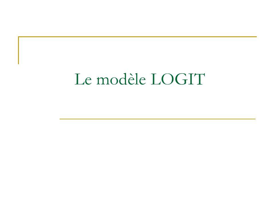 Le modèle LOGIT