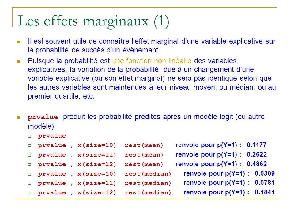 Les effets marginaux (1)