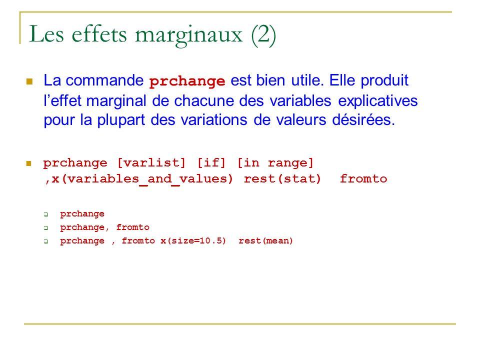 Les effets marginaux (2)
