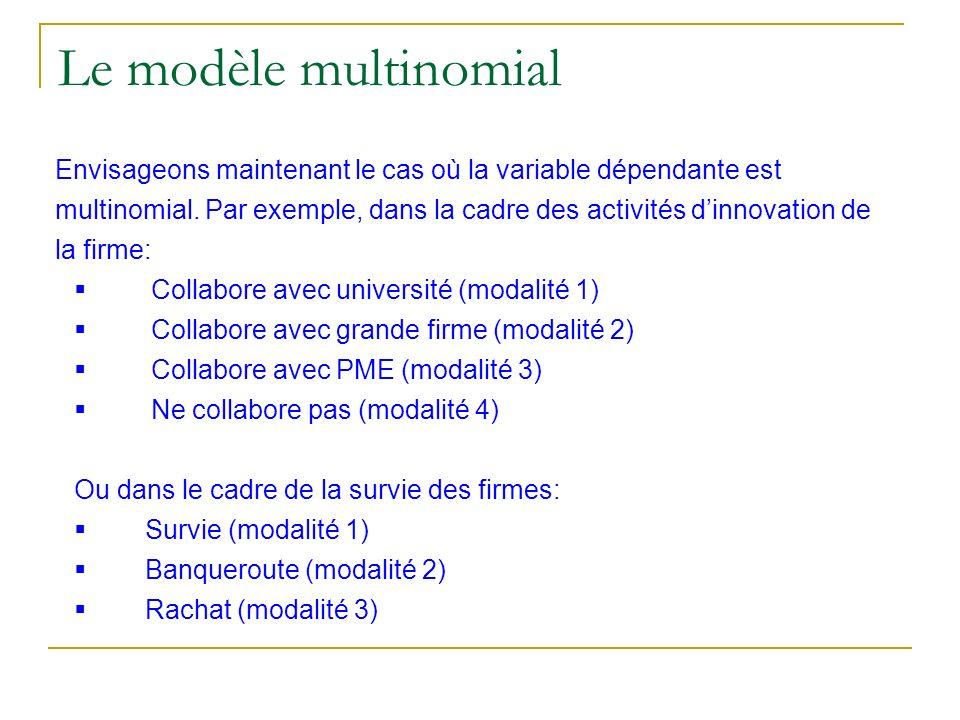 Le modèle multinomial