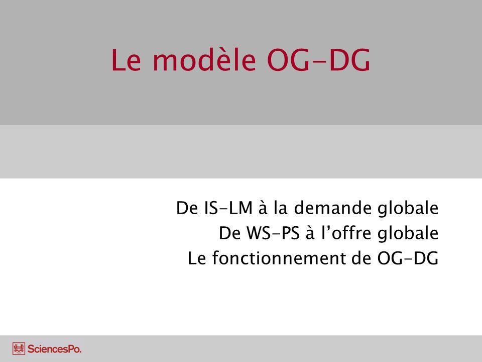 Le modèle OG-DG De IS-LM à la demande globale