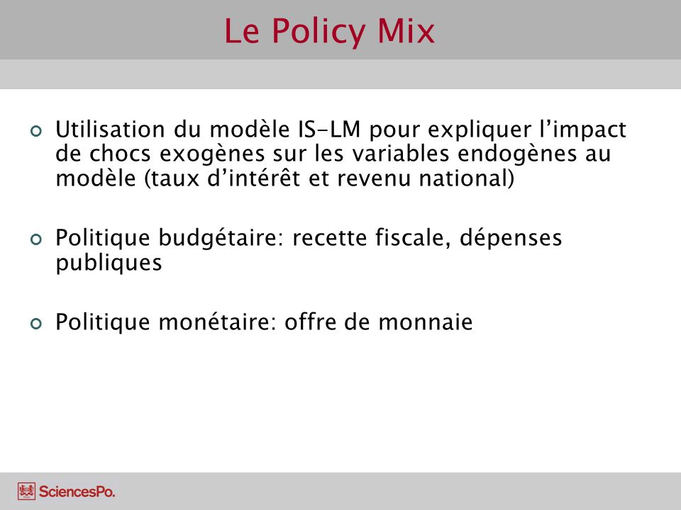 Le Policy Mix