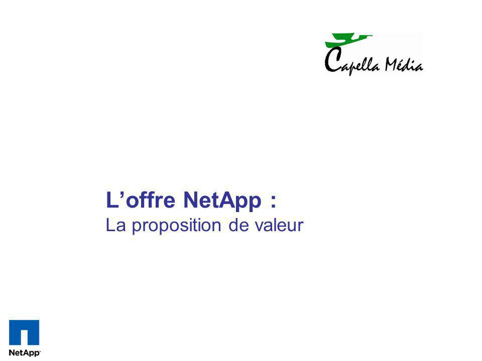 L'offre NetApp : La proposition de valeur
