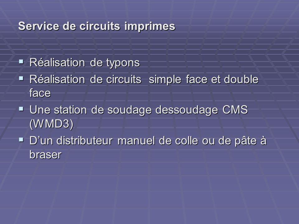 Service de circuits imprimes