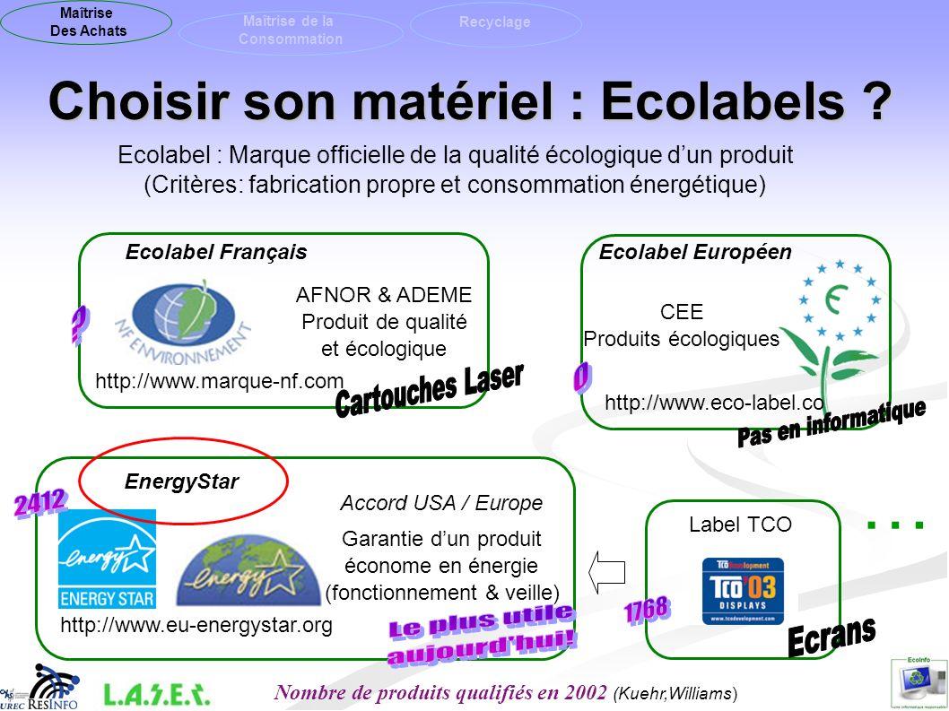 Choisir son matériel : Ecolabels