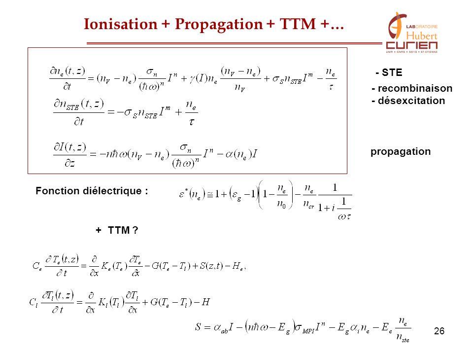 Ionisation + Propagation + TTM +…