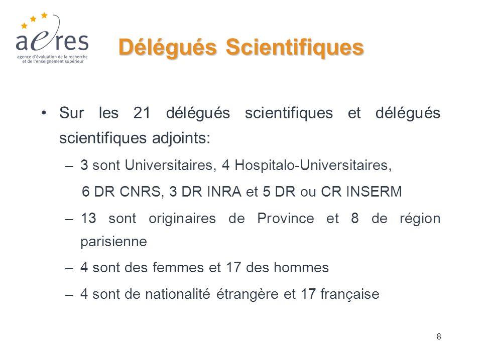 Délégués Scientifiques
