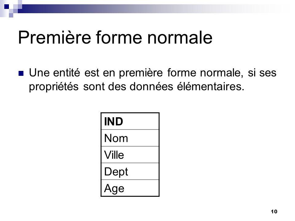 Première forme normale