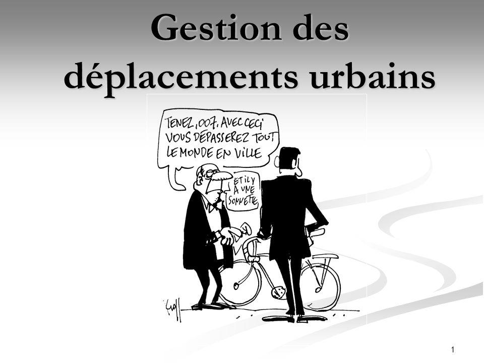 Gestion des déplacements urbains