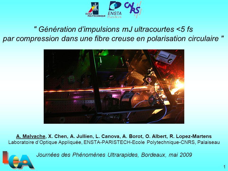 Journées des Phénomènes Ultrarapides, Bordeaux, mai 2009