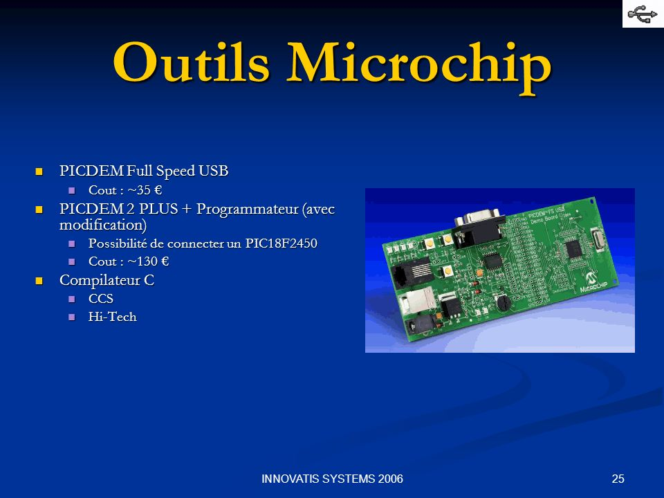 Outils Microchip PICDEM Full Speed USB