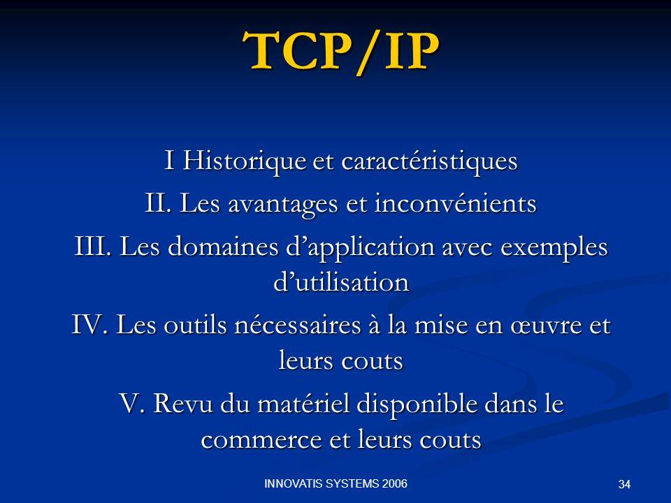 TCP/IP I Historique et caractéristiques