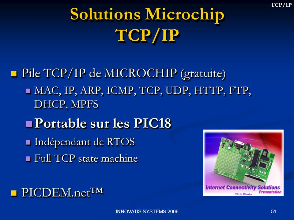 Solutions Microchip TCP/IP