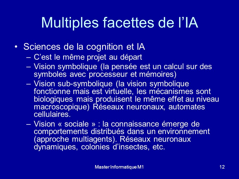 Multiples facettes de l'IA