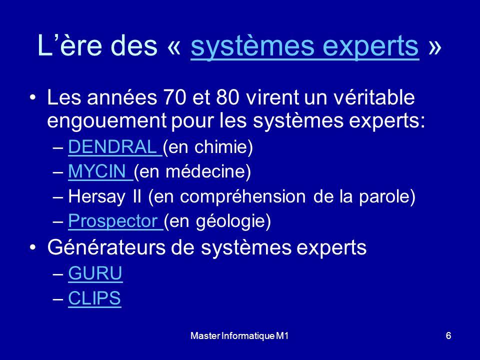 L'ère des « systèmes experts »