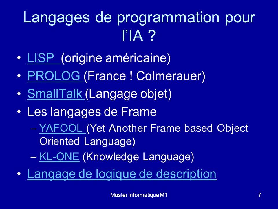 Langages de programmation pour l'IA