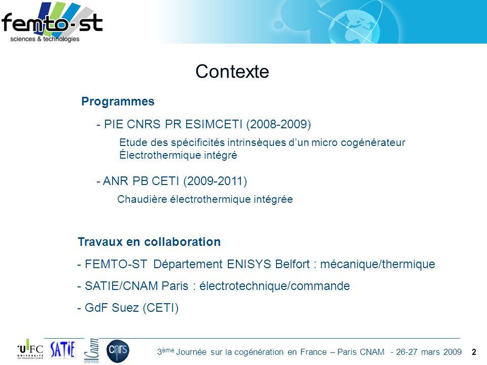 Contexte Programmes - PIE CNRS PR ESIMCETI (2008-2009)