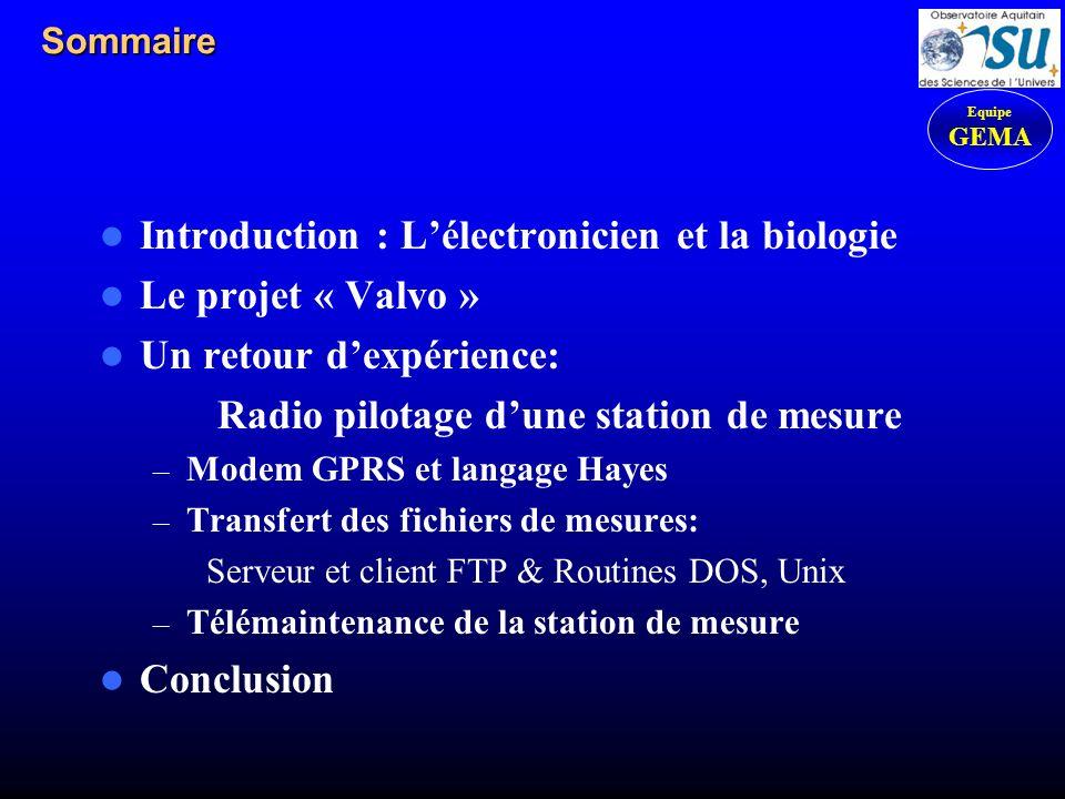 Radio pilotage d'une station de mesure