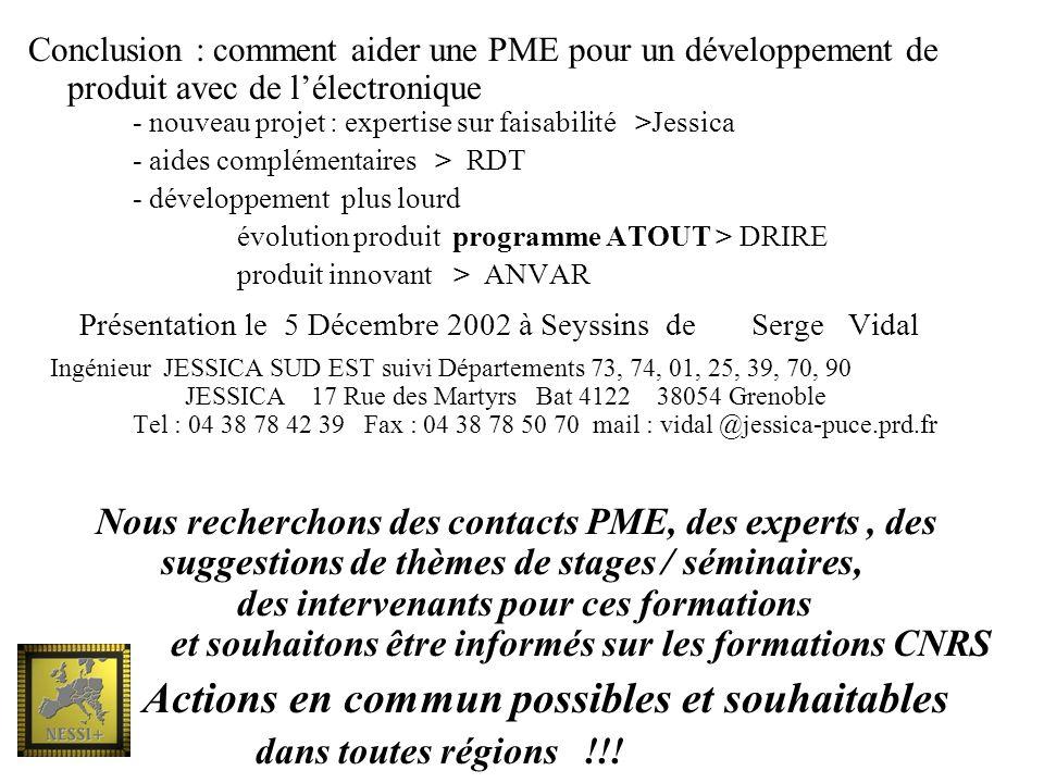 Présentation le 5 Décembre 2002 à Seyssins de Serge Vidal