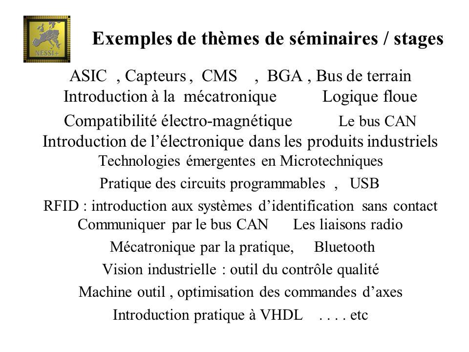 Exemples de thèmes de séminaires / stages