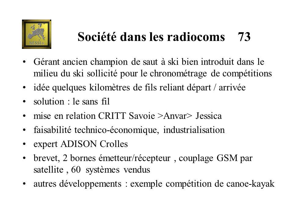 Société dans les radiocoms 73