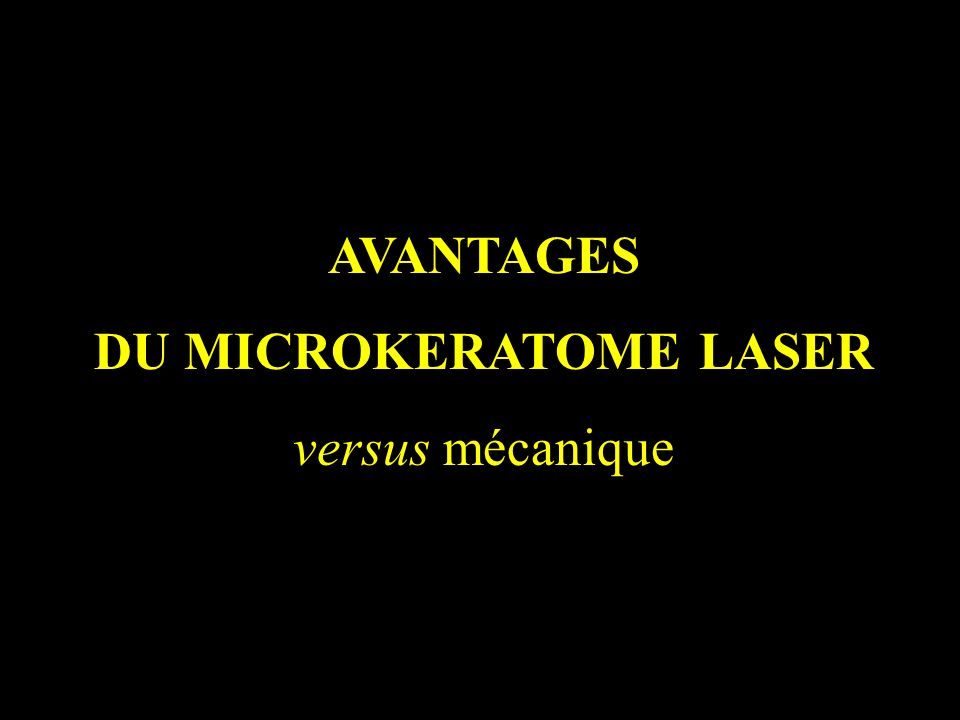 DU MICROKERATOME LASER