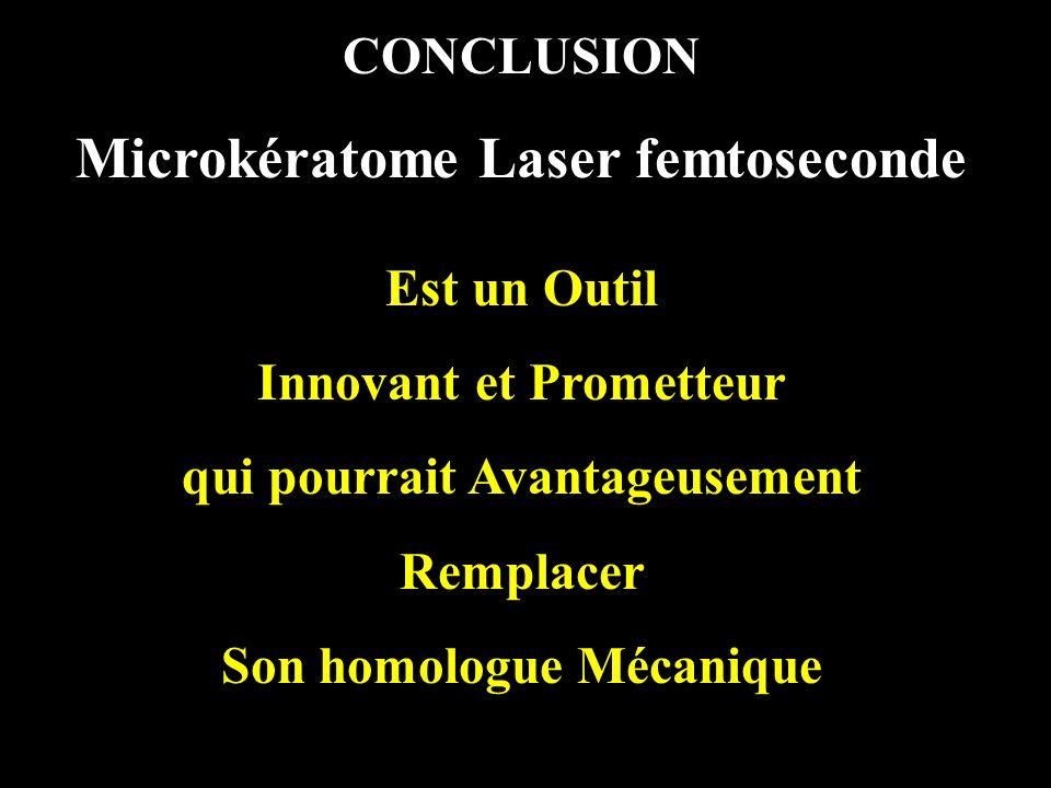 Microkératome Laser femtoseconde