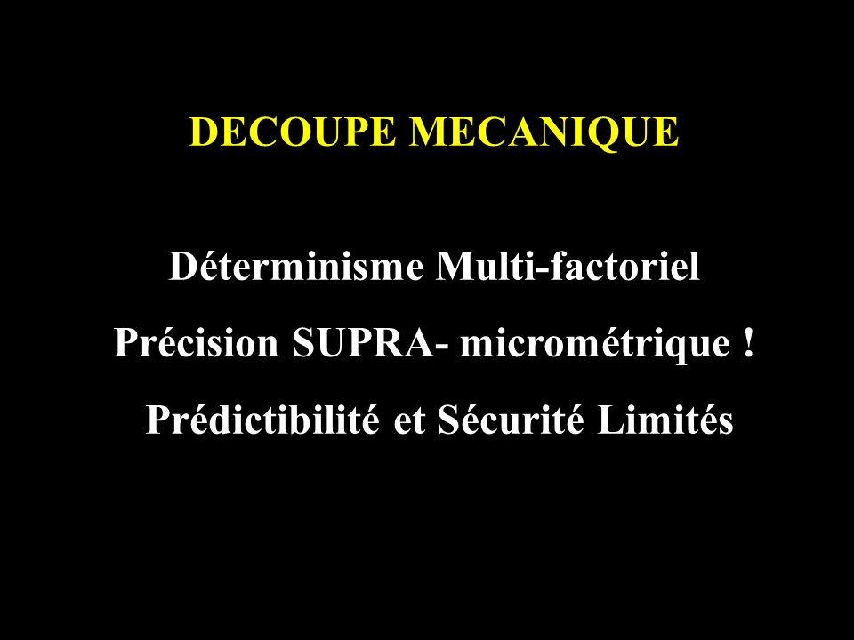 Déterminisme Multi-factoriel Précision SUPRA- micrométrique !