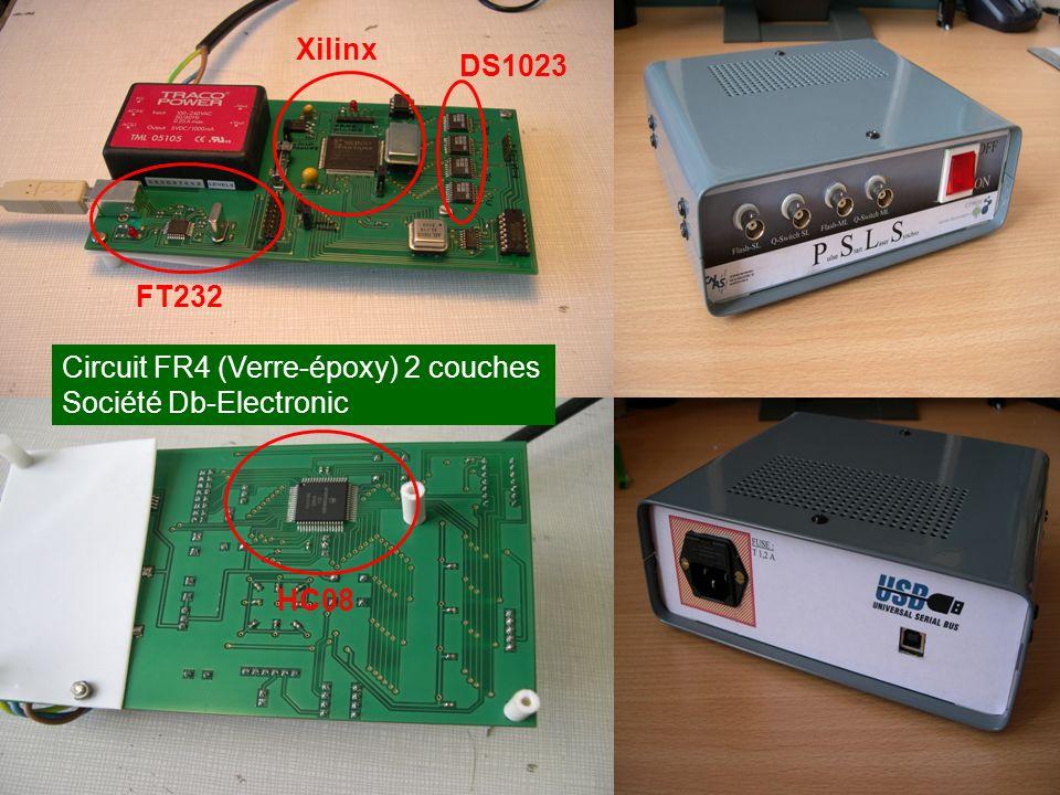 Xilinx DS1023 FT232 Circuit FR4 (Verre-époxy) 2 couches Société Db-Electronic HC08