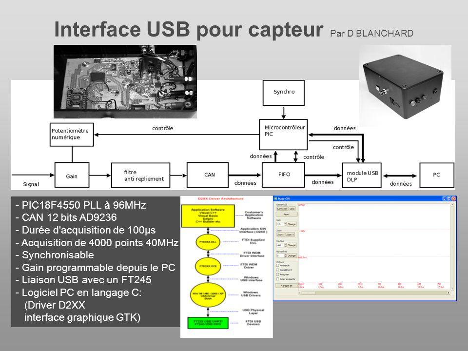 Interface USB pour capteur Par D BLANCHARD