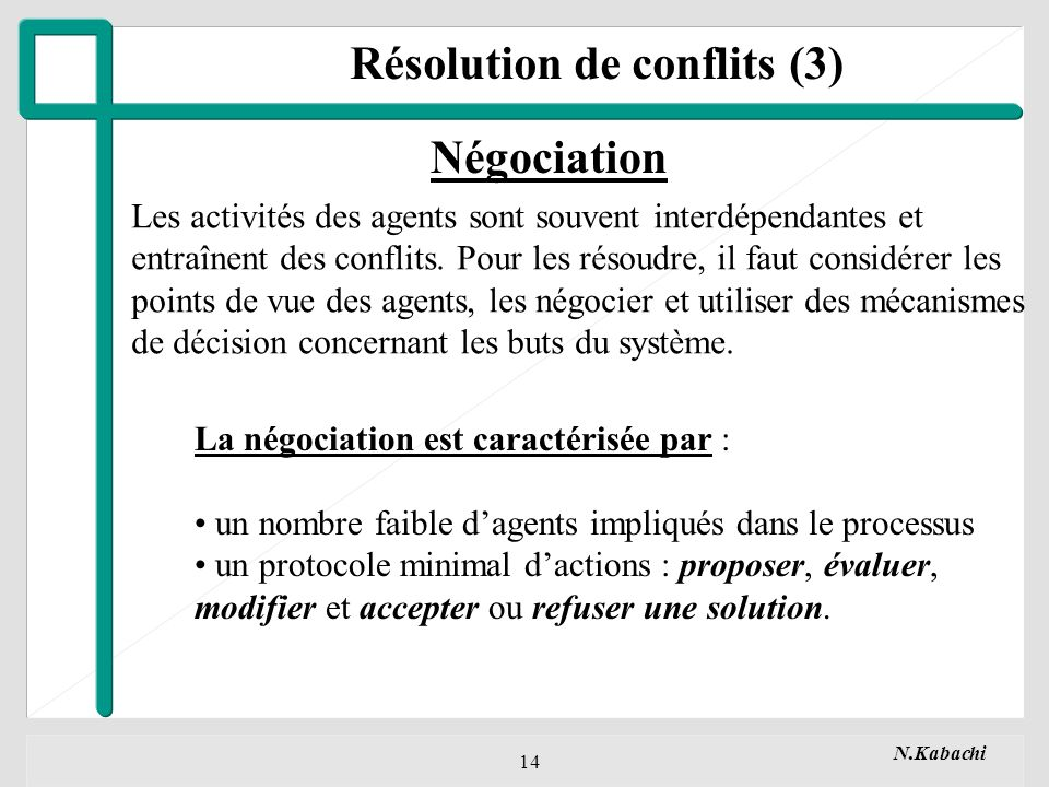 Résolution de conflits (3)