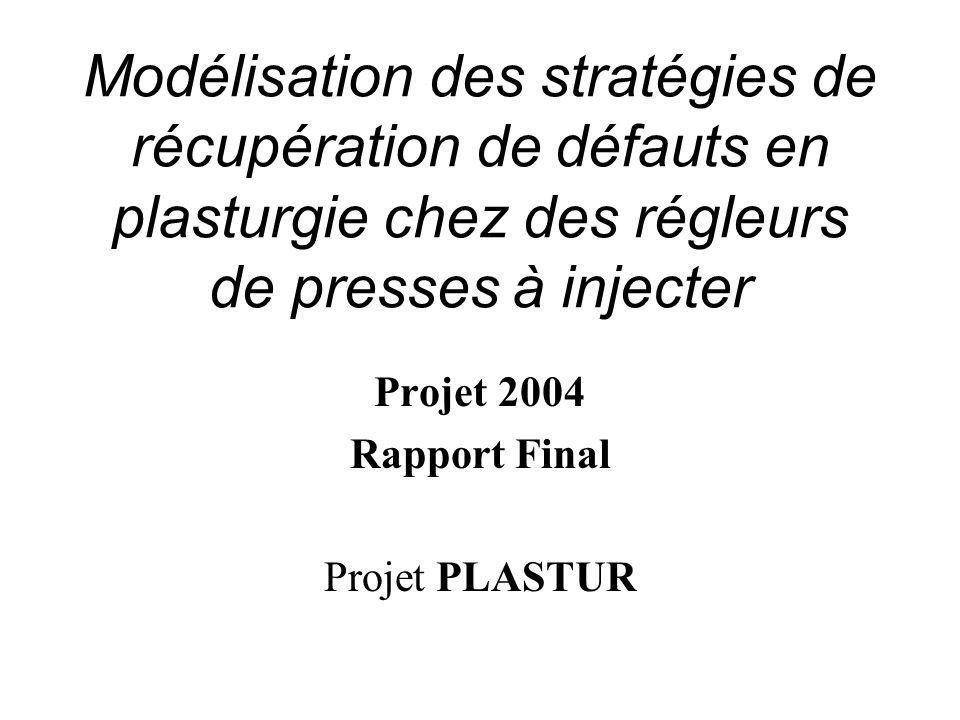 Projet 2004 Rapport Final Projet PLASTUR