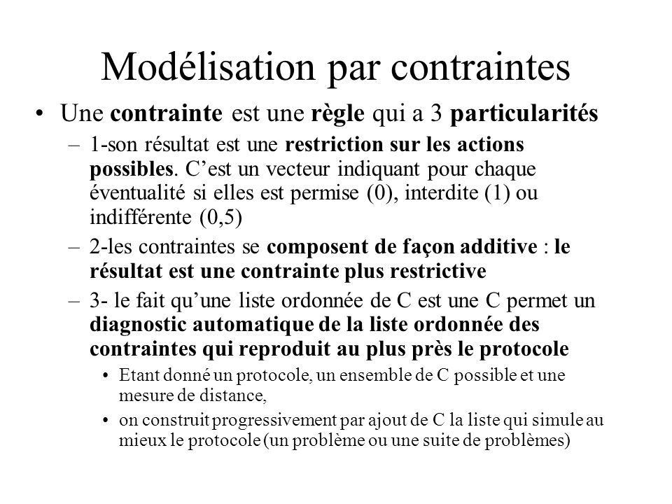 Modélisation par contraintes