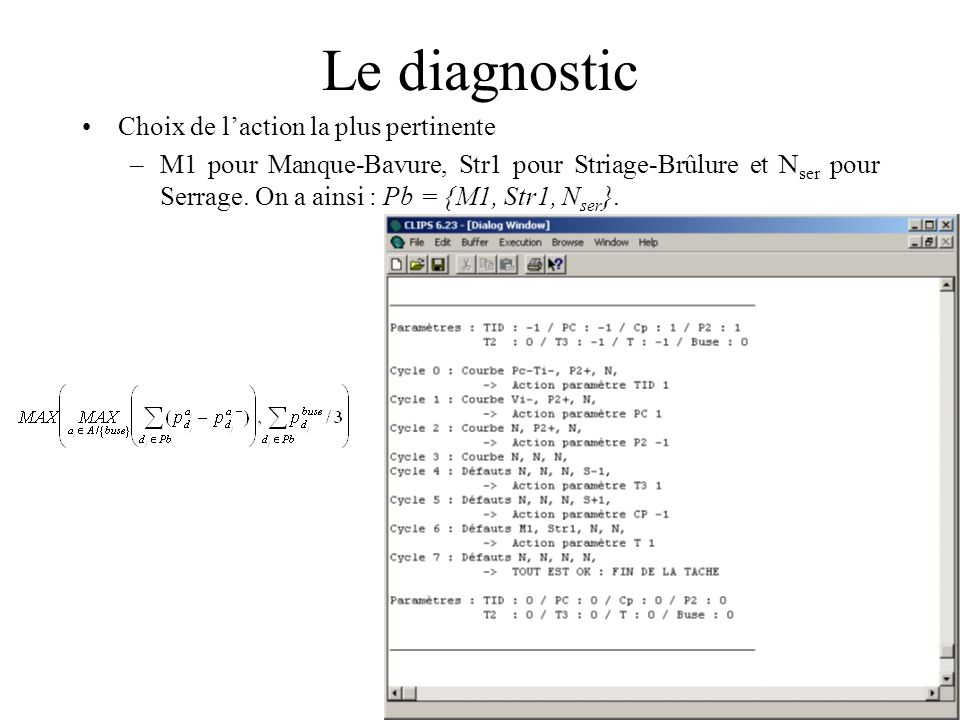Le diagnostic Choix de l'action la plus pertinente